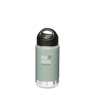 355ml/12oz Kanteen®Wide Vacuum-isolierte Thermosflasche (Stainless Loop Cap)-Farbe: River Rock