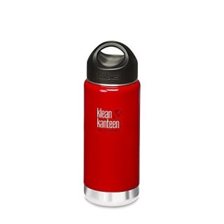 355ml/12oz Kanteen®Wide Vacuum-isolierte Thermosflasche (Stainless Loop Cap)-Farbe:Sangria Red, rot