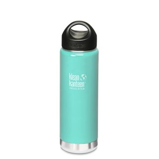 592ml/20oz Kanteen®Wide Vacuum-isolierte Thermosflasche (Stainless Loop Cap)-Farbe: Glacial Glass, türkis
