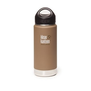 592ml/20oz kanteen wide insulated  - isolierte Thermosflasche (loop cap)Farbe: Coyote Brown, braun