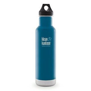 592ml/20oz Kanteen®Classic isolierte Thermosflasche (Loop Cap)Farbe: Winter Lake, blau