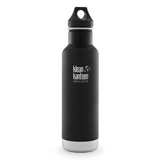 592ml/20oz Kanteen®Classic isolierte Thermosflasche (Loop Cap)Farbe: Shale Black, schwarz