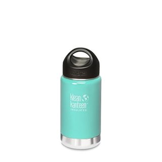 355ml/12oz Kanteen®Wide Vacuum-isolierte Thermosflasche (Stainless Loop Cap)-Farbe: Glacial Glass, türkis