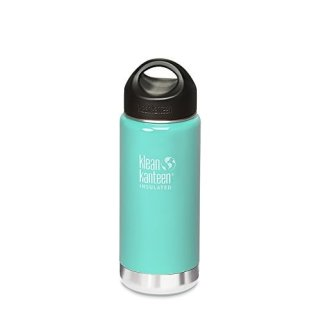 473ml/16oz Kanteen®Wide Vacuum-isolierte Thermosflasche (Stainless Loop Cap)-Farbe: Glacial Glass, türkis