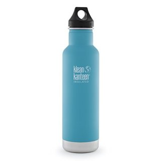 592ml/20oz Kanteen®Classic isolierte Thermosflasche (Loop Cap)-Farbe: Quiet Storm, blau