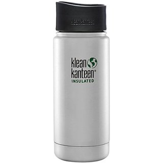 355ml/12oz Kanteen® Wide Vacuum insulated  - isolierte Thermosflasche (mit Café Cap 2.0)-brushed stainless