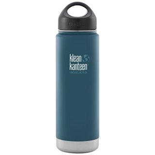 592ml/20oz kanteen wide insulated  - isolierte Thermosflasche (loop cap)-Farbe: Neptune Blue, blau